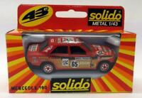 Solido 1/43 Scale Diecast - 1337 Mercedes 190 Racing Red #65