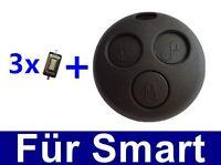 3Tasten Ersatz Gehäuse für Smart Schlüssel ForTwo-MC01 450 +3x MICRO TASTER
