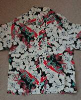 SUN SURF Hawaiian Aloha Shirt Rayon Size-S Used from Japan F/S