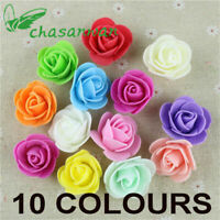 50pcs Artificial Flowers Foam Roses without stem Wedding Bride Bouquet Party