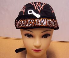 Harley-Davidson Du Rag Bandana Head Wrap Skull Cap Hat Doo Flame Unisex/defect