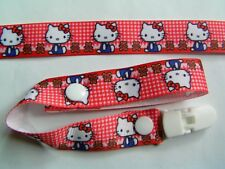 A BEAUTIFUL RED HELLO KITTY DUMMY CLIP /PACIFIER/TOY CLIP (NEW)