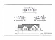Full Set of single story 3 bedroom house plans 1,654 sq ft