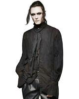 Punk Rave Mens Steampunk Poet Shirt Top Black Gothic VTG Victorian + Scarf Tie