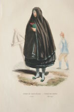 SUEDE GRAVURE COULEURS TORNA HARAD JERFSO COSTUME WHALEN 1843 R1571