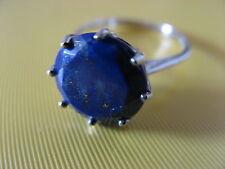 Sehr schöner Lapislazuli Ring in 925er Silber RW:17 mit Zertifikat, UNGETRAGEN!