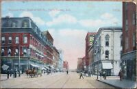 Terre Haute, IN 1916 Postcard: Wabash Avenue / Downtown - Indiana Ind