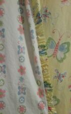 POTTERY BARN KIDS SOPHIE BUTTERFLY TWIN DUVET REVERSIBLE YELLOW WHITE PINK BLUE