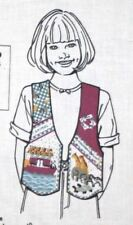 Noah's Ark Fabric Vest Child Sz 4 6 8 10 Daisy Kingdom Country Sewing Material