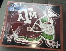 Sealed Tri-A-Puzzle Texas A & M 3 in 1 350 Piece Puzzle from Late for the Sky