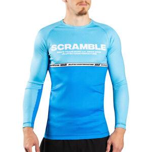 Scramble BJJ Ranked Long Sleeve Rashguard - Blue
