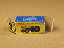 ORIGINAL BOX FOR LESNEY MATCHBOX # 39 FORD TRACTOR