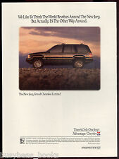 1992 Jeep GRAND CHEROKEE advertisement, Jeep Grand Cherokee Limited, print ad