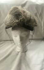 Vintage Marche Womans Hat New York Brown Feather Complete with Hat Pin Must See