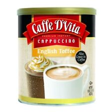 Caffe D'Vita English Toffee Coffee Cappuccino Mix, Hot or Iced 16 Oz ( 6 Packs )
