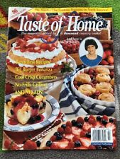 Taste Of Home July 1996 Issue Magazine Burgers Desserts Grilling Snacks Dinner