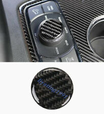 Real Carbon Fiber Inner Multimedia Knob Cover Trim For Jeep Grand Cherokee 14-18
