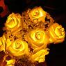 LED Rose Flower Fairy String Lights Wedding Garden Party Christmas Decoration