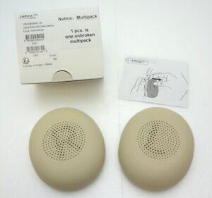 Jabra Elite 45h Auriculares Repuesto Cuerina Oído Cojines Beige 100-62620001-00