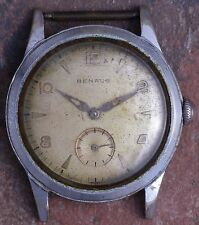 Benrus 50s Vintage Art Deco Military Style 17j DN21/ETA 1281 Ticks Parts/Restore