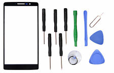 Black Outer Front Screen Glass Lens Replacement For LG G Stylo LS770+Tools