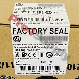 2020-2021 Allen-Bradley MicroLogix 1400 32 Point Controller 1766-L32BWA