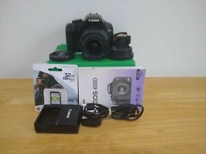 Canon EOS  450D XSi Camera DSLR 12.2MP With Lens and Accessories