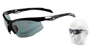 Italian Design Wrap-Around ANSI Z87.1 Safety Bifocal Reading Glasses Sunglasses