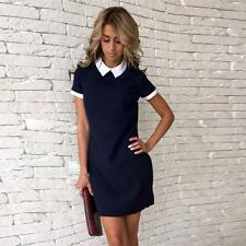 Trendy Women Short Sleeve Office Bodycon Evening Party Cocktail Mini Dress SS US