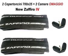 Vittoria New Zaffiro IV 2 Copertoncini e 2 Camere per Bici - Neri