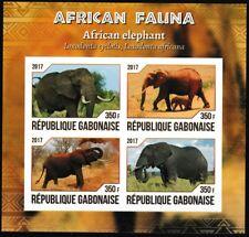 African Elephants mnh imperf souvenir sheet