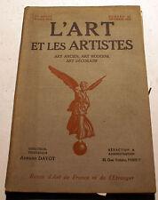 ART DECO/L'ART ET LES ARTISTES/1925/N°62/CH.COTTER/GEO MARESTE/J.W.MORRICE