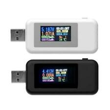 MULTI FUNCTION USB POWER TESTER LCD DIGITAL MULTIPLE TESTS BLACK WHITE NEW