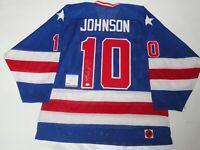MARK JOHNSON SIGNED K1 1980 TEAM USA JERSEY MIRACLE OLYMPICS LICENSED PSA COA