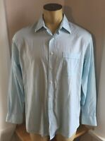 Tommy Bahama Mens Ligt Blue Button Up Long Sleeve Shirt 16 34-35