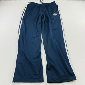 Adidas Pants Adult Large Blue White Trefoil Stripes Warm Up Gym Mens