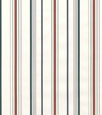 Thin Stripes White Red Blue Green Gold Striped Double Roll Bolt Wallpaper Cover