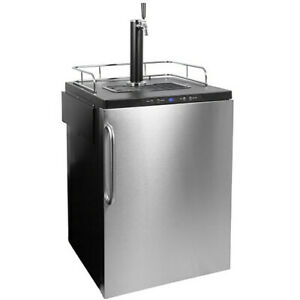 """Summit SBC635MBISSTB 24""""W 6 Cu. Ft. Single Tap Built-In Kegerator - Stainless"""