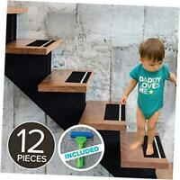LifeGrip Textured Rubber Surface Anti Slip Stair Treads, with Glow in Dark Green