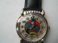 New Batman black leather fossil watch.quartz battery w- resistant watch.Li-1034