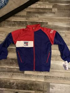 NHL New York Rangers Fleece Lined Track Jacket Youth Size M