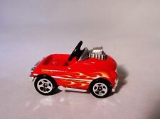 HOT WHEELS REPLICA PEDAL CAR WITH FLAMES LITTLE DIECAST HARD TO FIND ITEM