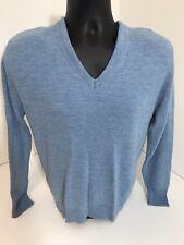 Vintage Robert Bruce V Neck Sweater Vest Blue Made In USA Size Medium