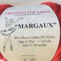 Margaux Trendsetter Yarn Sweater Blanket Trim Scarf  Wrap Knit Crochet