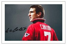ERIC CANTONA MANCHESTER UNITED SIGNED AUTOGRAPH PHOTO PRINT  SOCCER