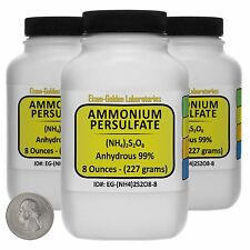 Ammonium Persulfate [(NH4)2S2O8] 99% ACS Grade Powder 1.5 Lb in Three Bottles