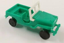 Jeep Geländewagen grün türkis weiss Plastikmodell Ü-Ei Sammler-Auto ca. 1:87 H0