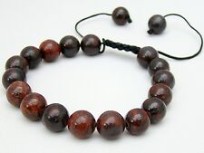 Men's Shamballa bracelet all 10mm  Jasper Brecciated NATURAL STONE  beads