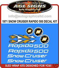 1971 Snow Cruiser RAPIDO 500 Decal kit ,  reproductions graphics