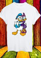 Disney Donald Daisy Duck Cartoon Movie Animal Funny Men Women Unisex T-shirt 646